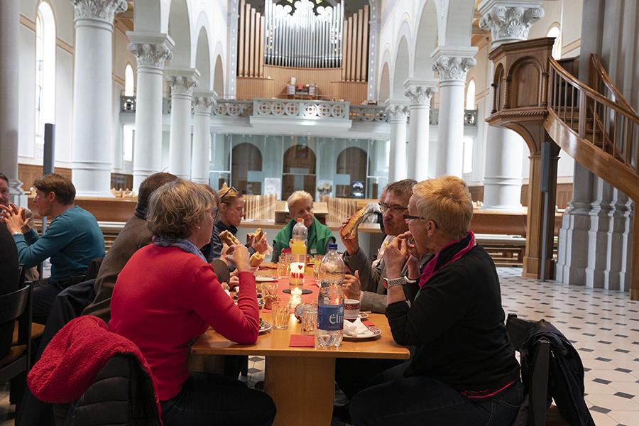 Glarus, Essen in der Stadtkirche